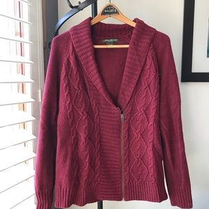 Eddie Bauer, Cable Knit Cardigan Sweater